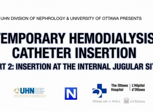Temporary Hemodialysis Catheter Insertion PART 1: Introduction to the use of Ultrasound